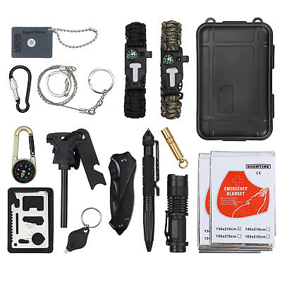Survival Kit 16 in 1 Emergency Tactical RECON Outdoor Camp Gear Bag Seal Tool
