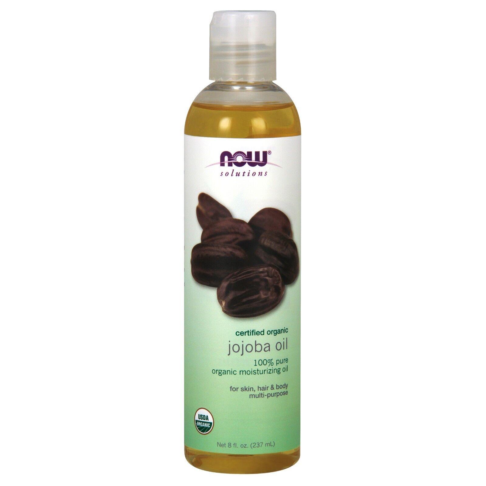 Now Foods Solutions Certified Organic Jojoba Oil 8 fl oz