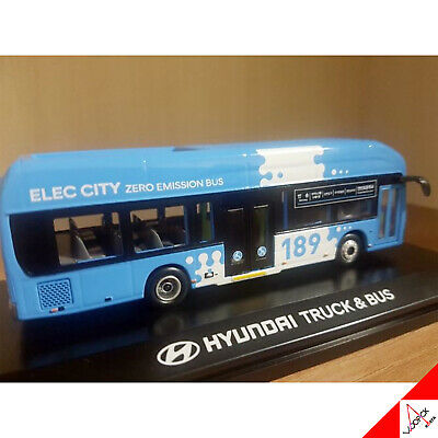HYUNDAI ELEC CITY 1/87 Korea Truck & Busan City Bus Die-Cast Miniature Blue Car