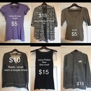 Small clothing - roots, under armour, Laura, urban outfitters