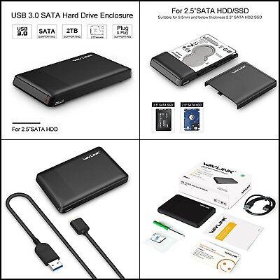 External Backup Hard Drive Case 2Tb Usb 3 0 Enclosure 2 5  Portable Hdd Sata Ssd