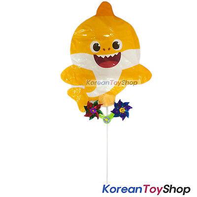 PINKFONG Balloon w/ Pinwheel Birthday Party Supplies - Yellow Baby Shark Model - Shark Birthday Supplies