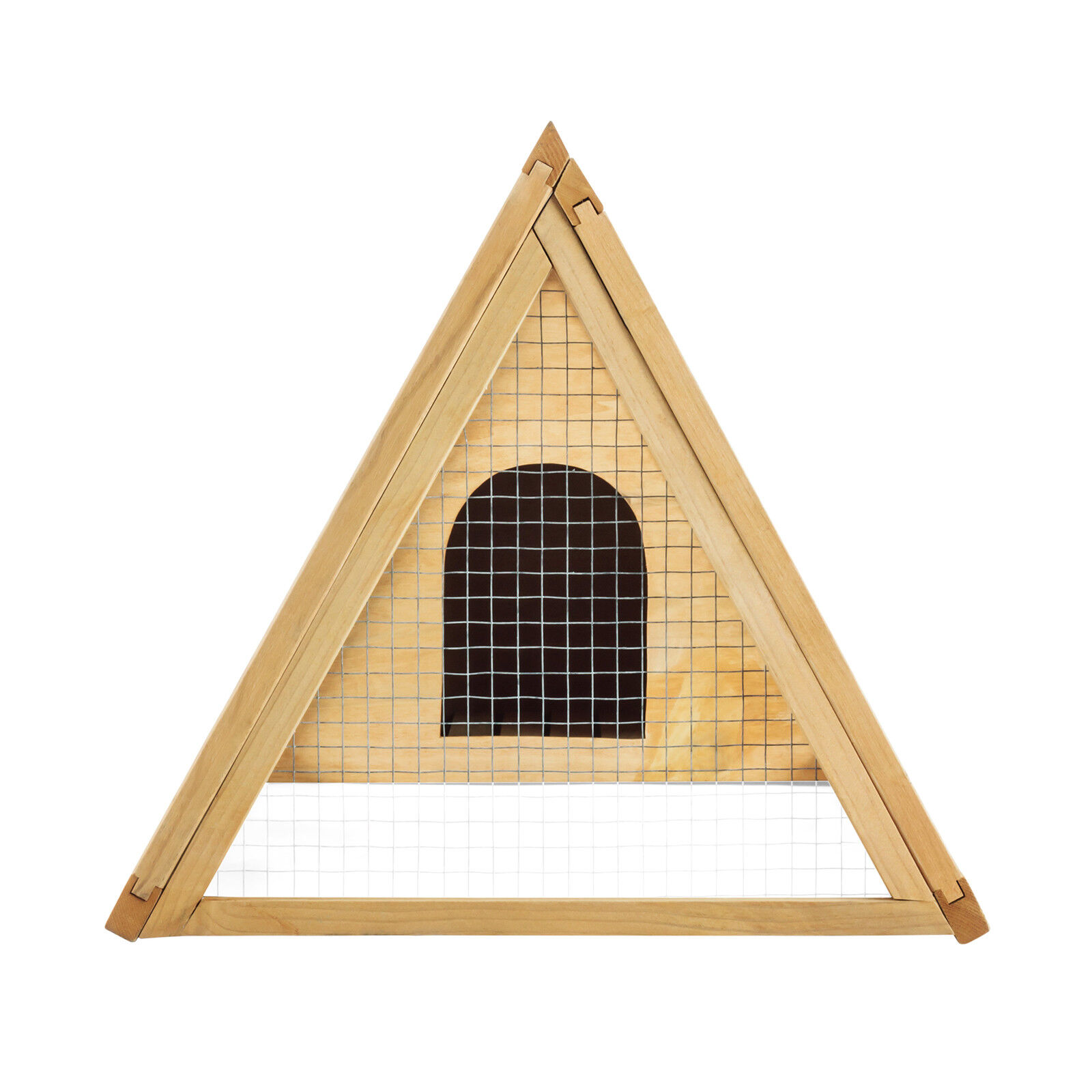 Wooden Chicken Coop A-Frame Rabbit Hutch Cage Small Animal Pet House Run Outdoor