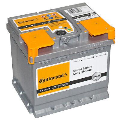 Autobatterie Continental 12V 55Ah 540A Starterbatterie 56Ah 60Ah 63Ah + rechts