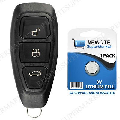 Replacement for Ford 2011-2017 Fiesta Remote Car Key Fob Keyless Entry