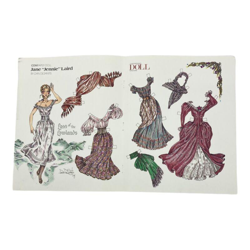 "Contemporary Doll Magazine CDM Paper Doll Uncut Jane ""Jennie"" Laird Victorian"