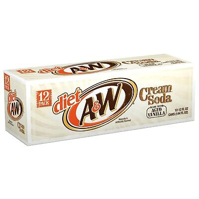 Diet A W Cream Soda 12 Pack Shipped Fast