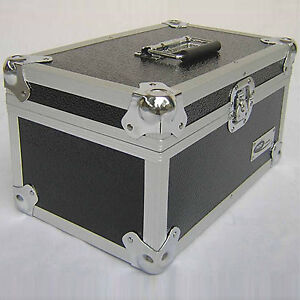 1 X NEO Aluminum Black Storage DJ Case for 300 Vinyl LP Records 7