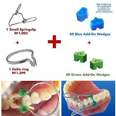 Dental Elastic Silicone Wedges 80 Pcssmall Springclip Delta Ring Matrix