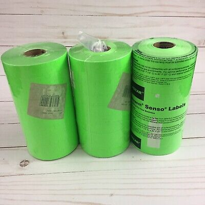 Paxar Fluorescent Green Labels For Monarch 1130 Pricing Gun 3 Sleeves 30 Rolls
