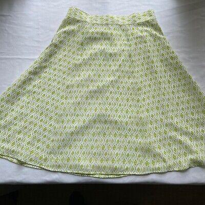 Pendleton White and Green A-Line Midi Skirt - Size 10-EUC