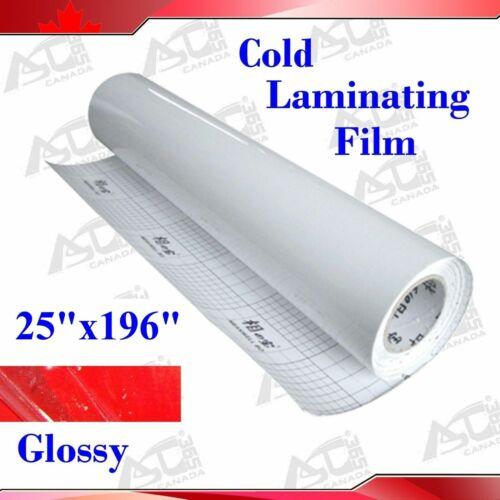 3Mil Glossy UV Luster Cold Laminating Film Laminating Rolls 196*25In 0.63*25M
