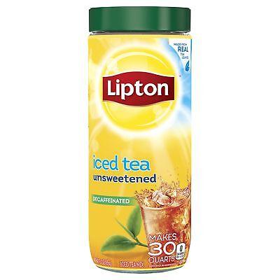 Lipton Black Iced Tea Mix, Decaffeinated Unsweetened, 30 qt (Pack of