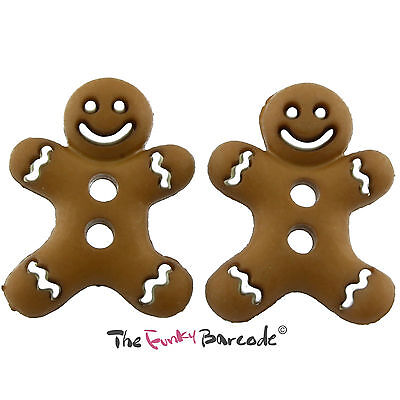 TFB - ICED GINGERBREAD MAN STUD EARRINGS Quirky Cookie Biscuit Sweet Retro Cool Man Stud