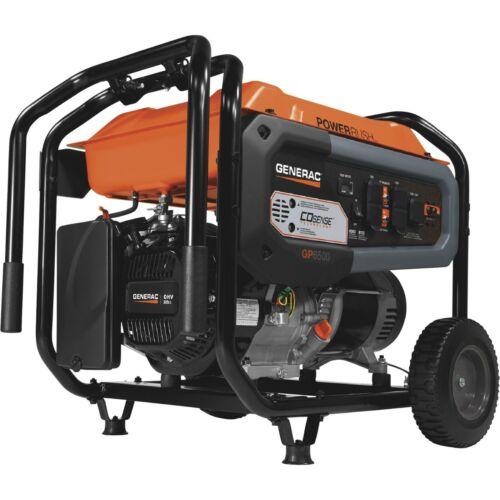 Generac GP6500 Generator CO Sense  6500 Watt Portable Backup Power 8125 Surge/W