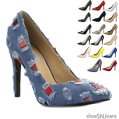 New Women Fashion Classic Party Dress Pump Stiletto High Heel Pointed Toe Shoes