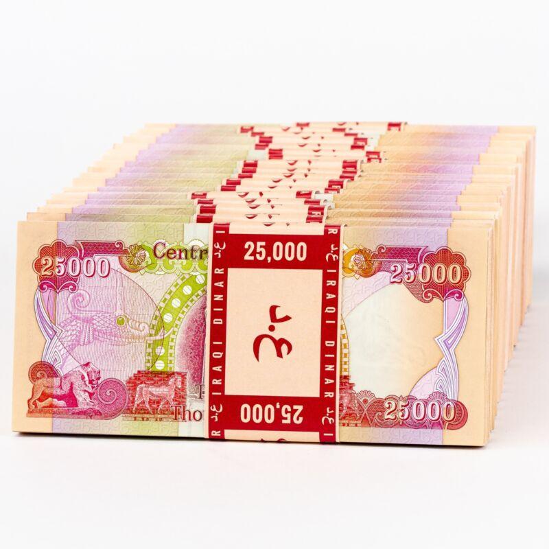 100,000 New Uncirculated Iraqi Dinar 25,000 (25K) IQD Banknotes
