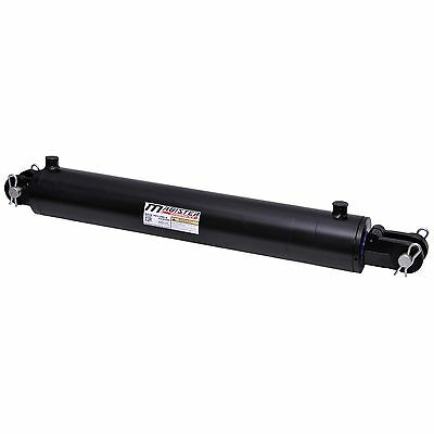 Hydraulic Cylinder Welded Double Acting 4 Bore 24 Stroke Clevis End 4x24 New