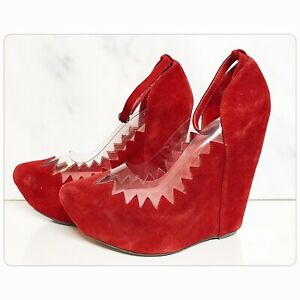 Brand New Jeffrey Campbell Red Audrey Platform Wedge