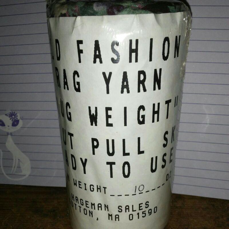 Rag Yarn Precut Fabric Strips Rug Weight 10oz Floral