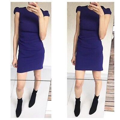 Australian Fashion Brand Willow Purple Short Cap Sleeve Dress Sz S