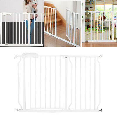 Baby Safety Gate Extra Wide Walk Thru Pet Door Child Toddler Fence Pet Cat Dog