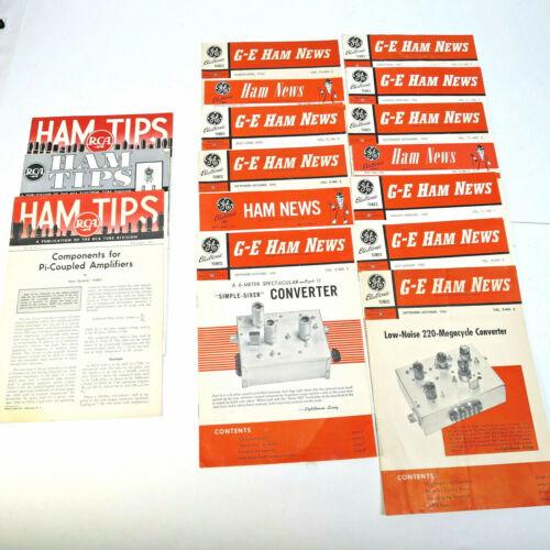 16 VINTAGE HAM RADIO BROCHURES FROM GE, RCA, 1950