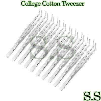 10 Collegecotton Dressing Pliers 6 Dental Instruments