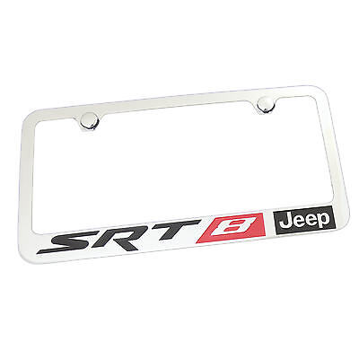 Jeep Red SRT-8 Chrome License Plate Frame 5 585 X Chassis