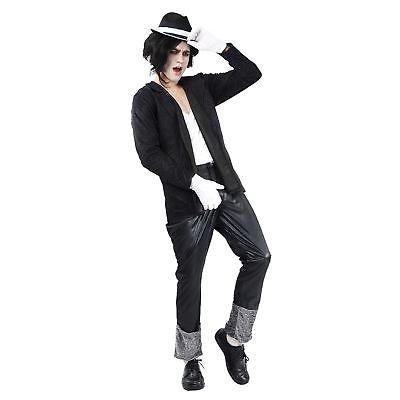 Herren S schwarz weißer Anzug 80s Jahre Superstar Sänger Tänzer