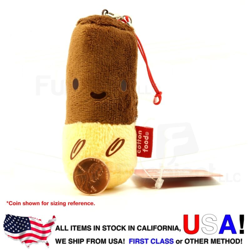 Pepero - Pocky - Cotton Foods smart phone anti dust plug plush charm wiper