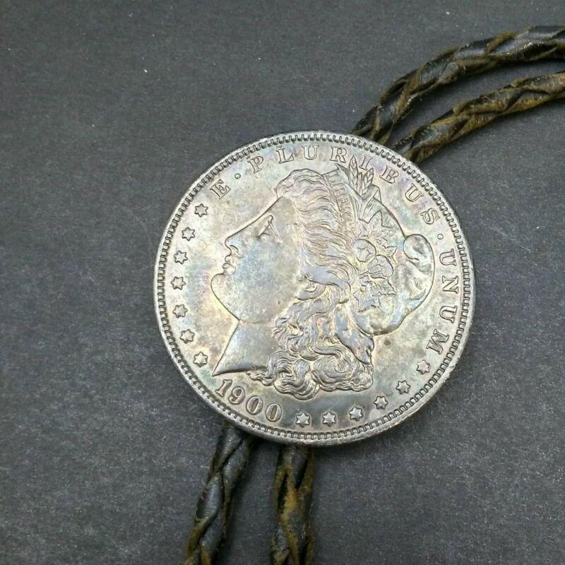 Southwest 1900 90% Silver Morgan Liberty Coin Dollar Bolo Tie #4