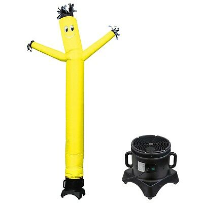 Mounto 10ft Sky Puppet Inflatable Dancer With Blower Complete Set Yellow