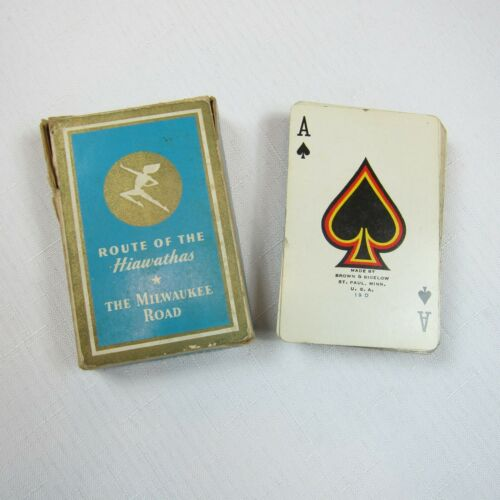 Vintage 1940s Milwaukee Road Route of the Hiawathas Bridge Size Playing Cards