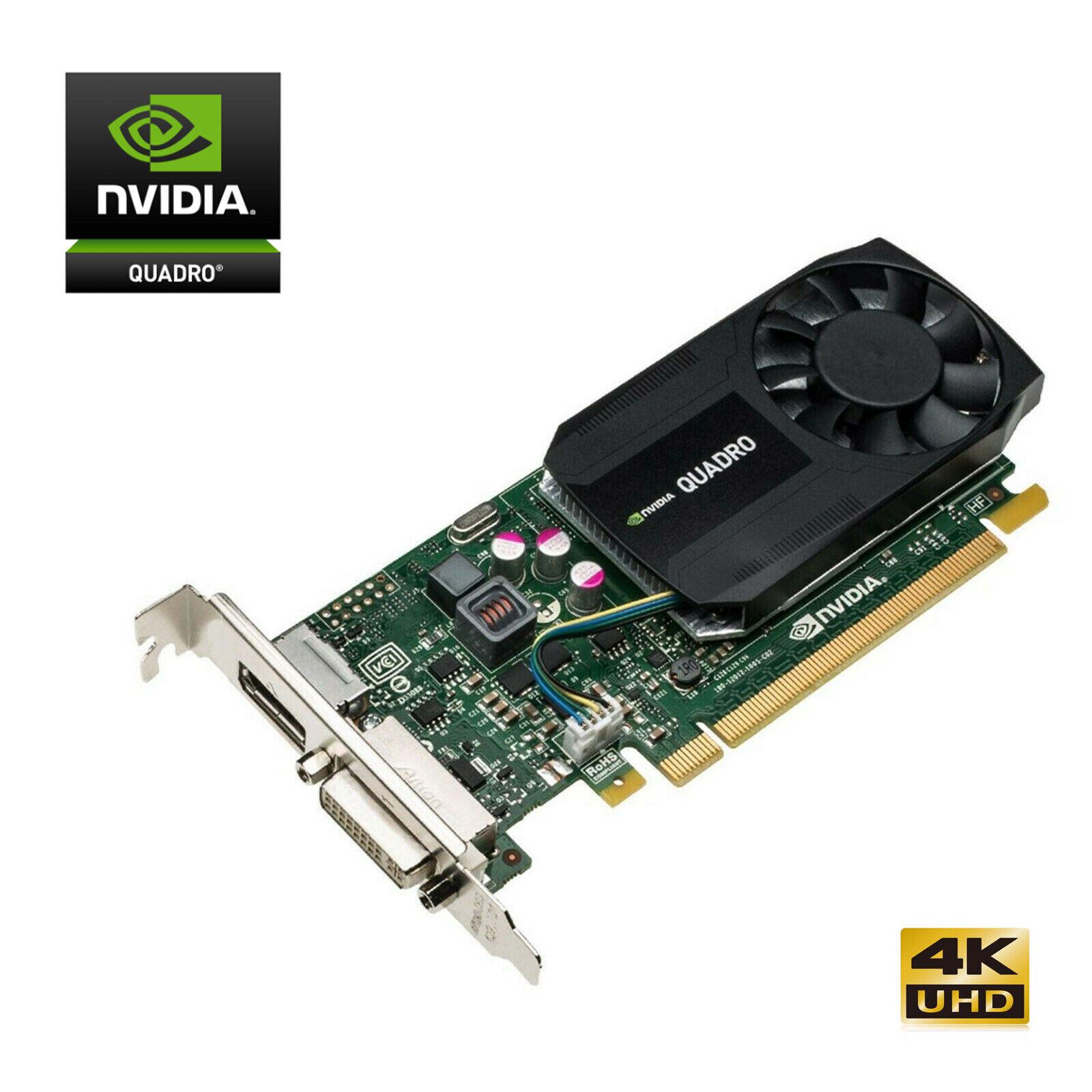Nvidia Quadro K620 SFF 2GB PCI-E DP DVI 4K UHD Grafikkarte, HDMI-Adap., Gewährl.