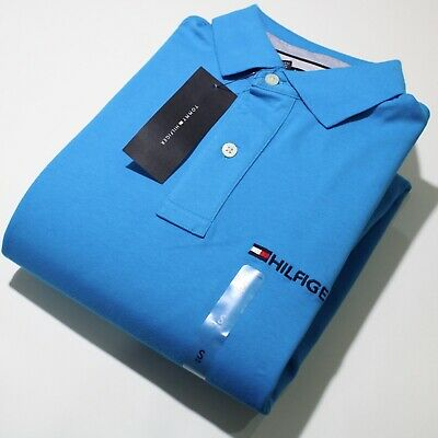 Men's Tommy Hilfiger Short Sleeve Light Blue Polo Shirt | NWT