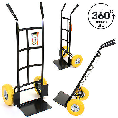 Industrial Sack Truck Heavy Duty Hand Trolley 440LB Warehouse Puncture Proof NEW