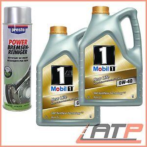 2x 5 L = 10 LITER MOBIL 1 NEW LIFE 0W-40 MOTOR-ÖL MOTOREN-ÖL BMW LONGLIFE OIL 01