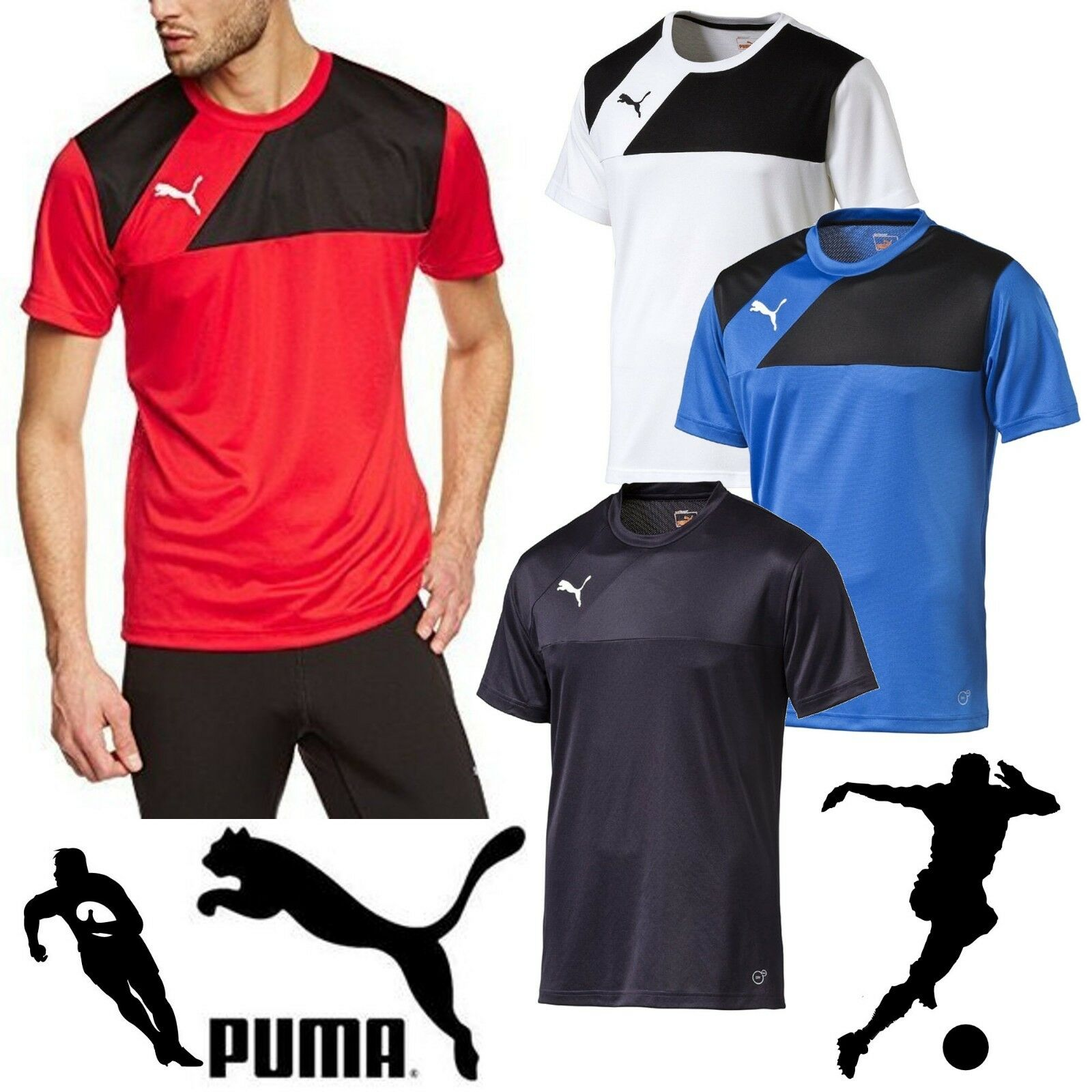 Puma Herren Rosas Fußball Trikots Rugby Tees Sport Gym Team