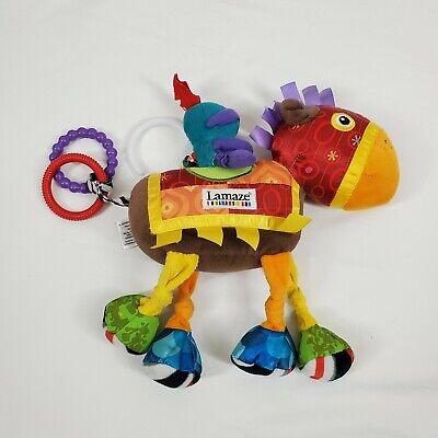"Lamaze HORSE & KNIGHT 9"" Plush Infant Baby Toy Developmental Hanging Rings"