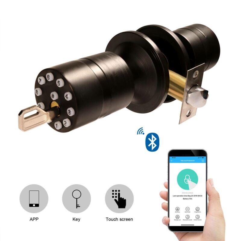 Bluetooth Keyless Security Smart Lock with App Backup Mechan