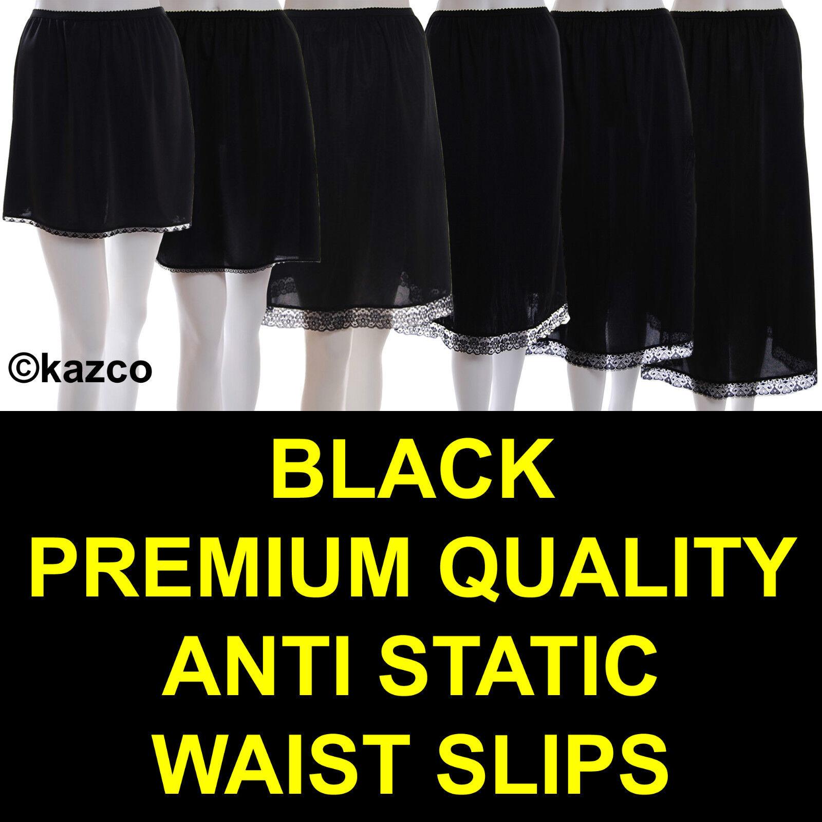 "Ladies Womens Polyester Underskirt Waist Half Slip 24/"" 28/"" 32/"" Long White"