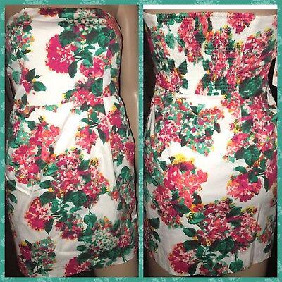 ZARA NWT PINK FLORAL PRINT SLEEVELESS Summer DRESS XS