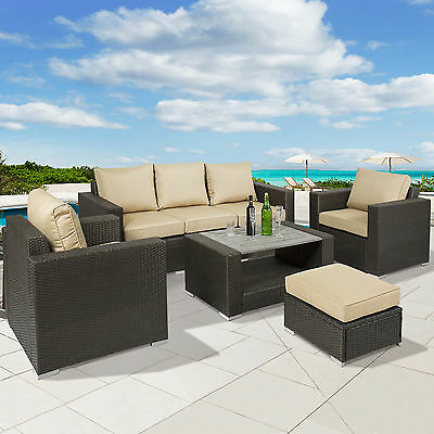 best choice products 7pc outdoor patio sectional pe wicker