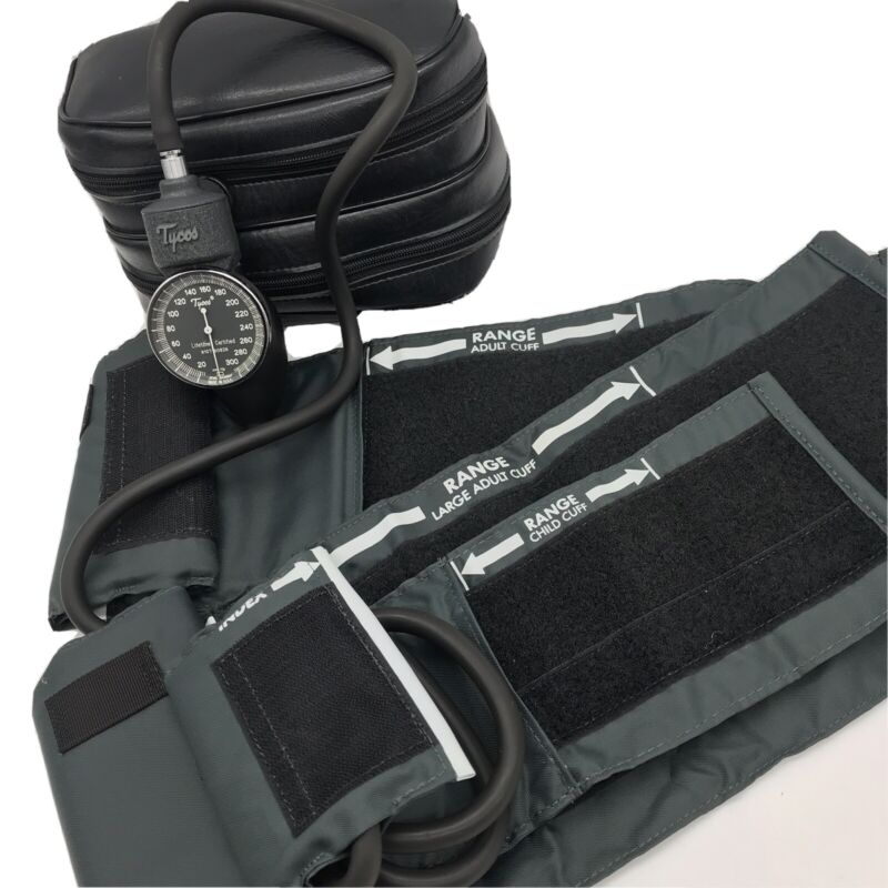 Welch Allyn Tycos Hand Sphygmomanometer Blood Pressure Kit Incl 3 Cuff Sizes