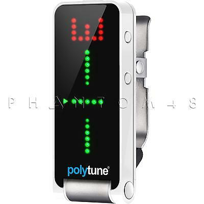 TC Electronic PolyTune Clip LED Headstock Clip-on Guitar Tuner Electronics