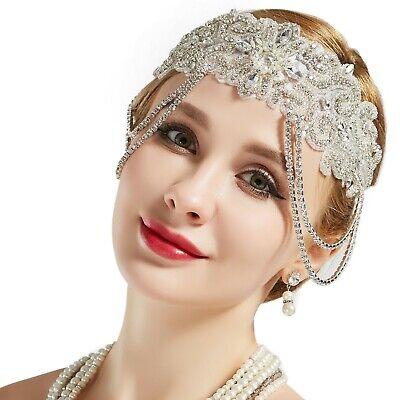Great Gatsby Headpiece (Flapper Headband Roaring 20s Bridal Headpiece 1920s Great Gatsby)