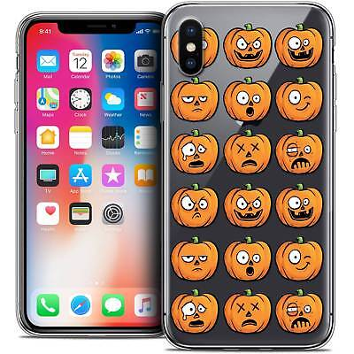 Dibujos Halloween (Carcasa Cristal Gel para IPHONE X (10) Extra Fina Flexible Halloween)