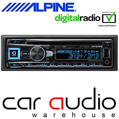 Alpine CDE-196DAB DAB Radio Bluetooth CD MP3 USB AUX Android iPhone Car...