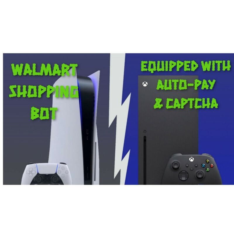 Walmart Shopping Bot For PS5, Xbox Series X, & More!!